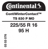 225/55 R16 95H Continental ContiWinterContact TS830 P MO (Mercedes)