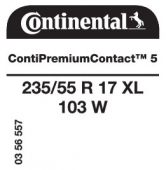 235/55 R17 103W Continental ContiPremiumContact 5 XL (Ford S-Max/Galaxy)