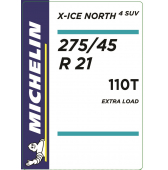 275/45 R21 110T Michelin X-Ice North 4 SUV XL