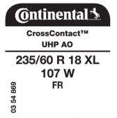 235/60 R18 107W Continental CrossContact UHP XL FR AO (Audi Q7)