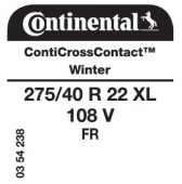 275/40 R22 108V Continental CrossContactWinter XL FR