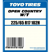 225/65 R17 102H Toyo Open Country W/T