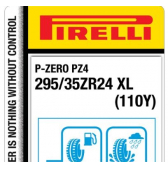 295/35 ZR24 (110Y) Pirelli P-Zero PZ4 Sports Car XL