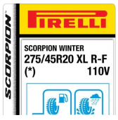 275/45 R20 110V Pirelli Scorpion Winter XL RunFlat * (BMW)