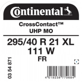 295/40 R21 111W Continental CrossContact UHP XL FR MO (Mercedes GL-Class AMG X164)