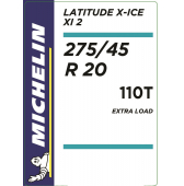 275/45 R20 110T Michelin Latitude X-Ice 2 XL