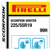 225/55 R19 99H Pirelli Scorpion Winter