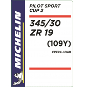345/30 ZR19 (109Y) Michelin Pilot Sport Cup 2 XL