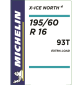 195/60 R16 93T Michelin X-Ice North 4 XL