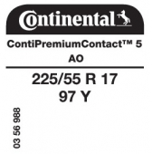 225/55 R17 97Y Continental ContiPremiumContact 5 AO (Audi A4 Allroad)