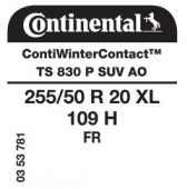 255/50 R20 109H Continental ContiWinterContact TS830 P SUV XL FR AO (Audi)