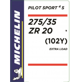 275/35 ZR20 (102Y) Michelin Pilot Sport 4 S XL * (BMW)