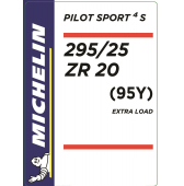 295/25 ZR20 (95Y) Michelin Pilot Sport 4 S XL