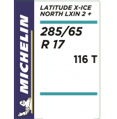 285/65 R17 116T Michelin Latitude X-Ice North 2+