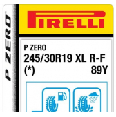245/30 R19 89Y Pirelli P Zero XL Run-Flat (*) (BMW)