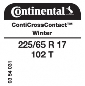 225/65 R17 102T Continental CrossContactWinter