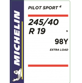 245/40 R19 98Y Michelin Pilot Sport 4 XL * (BMW 5-Series G30)