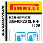 305/40 R20 112V Pirelli Scorpion Winter XL RunFlat (BMW)