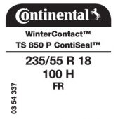 235/55 R18 100H Continental WinterContact TS850 P FR ContiSeal