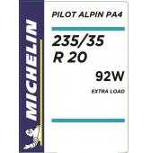 235/35 R20 92W Michelin Pilot Alpin 4 XL