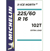 225/60 R16 102T Michelin X-Ice North 4 XL