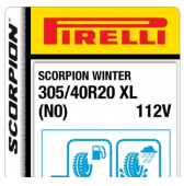 305/40 R20 112V Pirelli Scorpion Winter XL N0 (Porsche Cayenne)