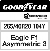 265/40 R20 104Y Goodyear Eagle F1 Asymmetric 3 XL FP SoundComfort AO (Audi)