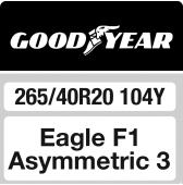 265/40 R20 104Y Goodyear Eagle F1 Asymmetric 3 XL FP