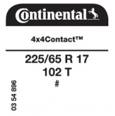 225/65 R17 102T Continental 4x4Contact