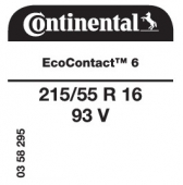 215/55 R16 93V Continental EcoContact 6