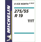 275/55 R19 111T Michelin X-Ice North 4 SUV XL
