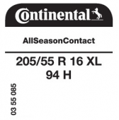 205/55 R16 94H Continental AllSeasonContact XL