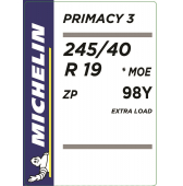 245/40 R19 98Y Michelin Primacy 3 XL ZP RunFlat *MOE (BMW/Mercedes)