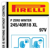 245/40 R18 97V Pirelli P Zero Winter XL