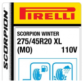 275/45 R20 110V Pirelli Scorpion Winter XL MO (Mercedes)