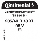 235/40 R18 95V Continental ContiWinterContact TS810 S XL FR * (BMW)