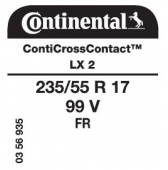 235/55 R17 99V Continental ContiCrossContact LX 2 FR