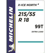215/55 R18 99T Michelin X-Ice North 4 XL
