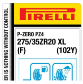 275/35 ZR20 (102Y) Pirelli P Zero PZ4 Sports Car XL F (Ferrari)