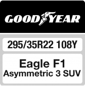 295/35 R22 108Y Goodyear Eagle F1 Asymmetric 3 SUV XL FP