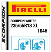 235/55 R18 104H Pirelli Scorpion Winter XL