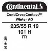 235/55 R19 101H Continental CrossContactWinter FR AO (Audi)