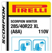 285/40 R22 110V Pirelli Scorpion Winter XL A8A (Aston Martin DBX)