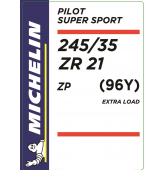 245/35 ZR21 (96Y) Michelin Pilot Super Sport XL ZP RunFlat