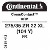 275/35 ZR22 (104Y) Continental CrossContact UHP XL FR
