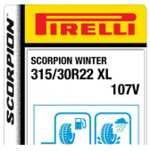 315/30 R22 107V Pirelli Scorpion Winter XL