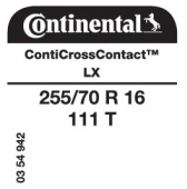 255/70 R16 111T Continental CrossContact LX (Ford T6)