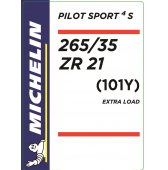 265/35 ZR21 (101Y) Michelin Pilot Sport 4 S XL