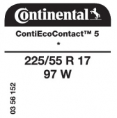 225/55 R17 97W Continental ContiEcoContact 5 * (BMW F34 3 Series GT)