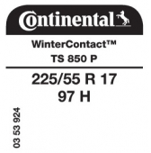 225/55 R17 97H Continental WinterContact TS850 P